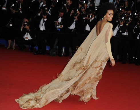 Solange Knowles at the 2013 Cannes Film Festival in Stephane Rolland Couture